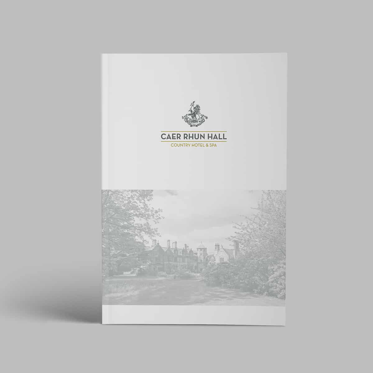Cover design for Caer Rhun Hall brochure
